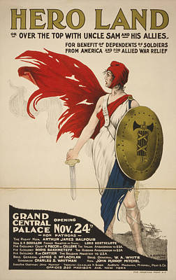 Benefit Photograph - French Hero Land Poster by Underwood Archives