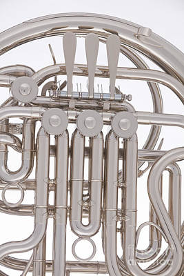 Photograph - French Horn Close Up Photograph In Color 3433.02 by M K  Miller