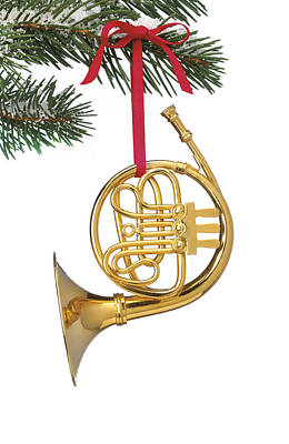 Photograph - French Horn Ornament by Daniel Troy