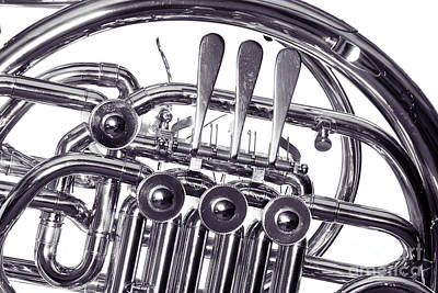 Photograph - French Horn Rotors Classic Photograph In Sepia 3438.01 by M K Miller