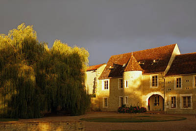 French House At Sunset Art Print