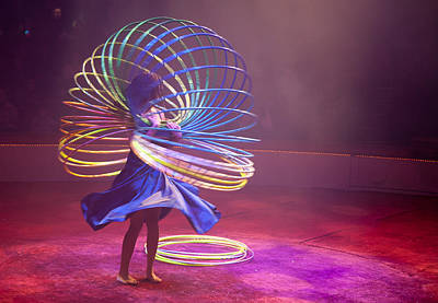 Colorful Photograph - French Hula Hooping by Matthew Bamberg