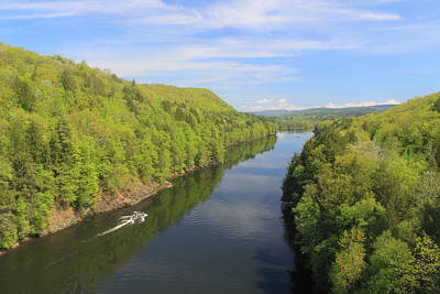 French King Gorge Connecticut River Spring Boater Art Print