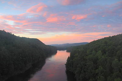 French King Gorge Connecticut River Sunset Art Print