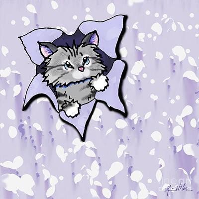 Kim Digital Art - French Kitty Blast by Kim Niles