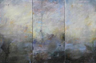 Painting - French Landscape Triptych by Thomas Darnell