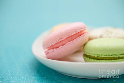 Filling Photograph - French Macaron Cookies by Edward Fielding