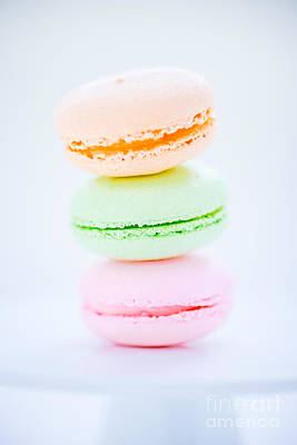 Filling Photograph - French  Macarons Cookies by Edward Fielding