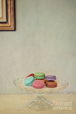 Macaroons Photograph - French Macaroons On Mantel by Susan Gary