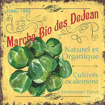 Natural Art Painting - French Market Sign 1 by Debbie DeWitt