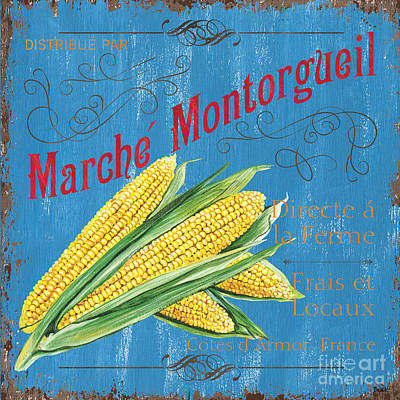 Natural Art Painting - French Market Sign 2 by Debbie DeWitt