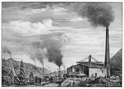 French Mining Railway Art Print by Cci Archives
