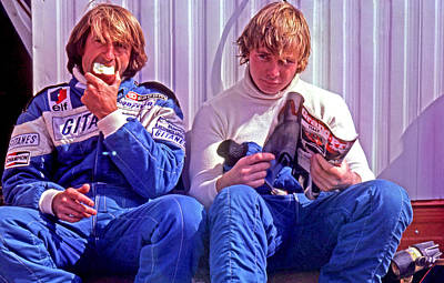 Didier Pironi Photograph - French Pair by Mike Flynn