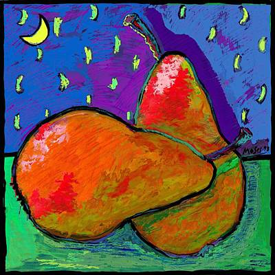 French Pears At Midnight Art Print