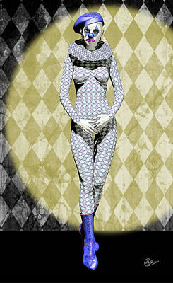 Showgirls Digital Art - French Pierrette by Quim Abella