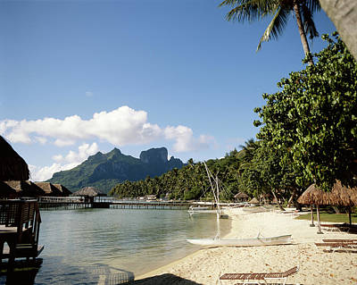 French Polynesia, Tahiti, View Art Print by Douglas Peebles