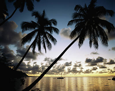 French Polynesia, View Of Moorea Bay Art Print by Douglas Peebles