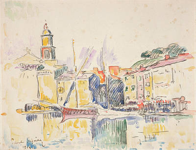 French Port Of St. Tropez, 1914 Art Print