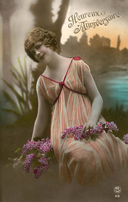 Photograph - French Postcard, C1912-20 by Granger