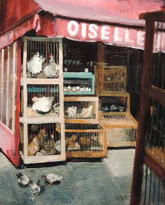 French Poultry Vender Original by Walt Maes