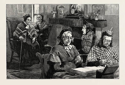 French Protestant Hospital Art Print by English School