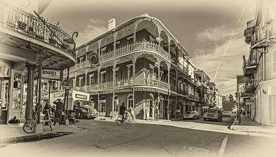 New Orleans Oil Photograph - French Quarter Afternoon Sepia by Steve Harrington