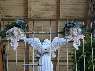 Photograph - French Quarter Angels by Kathy K McClellan