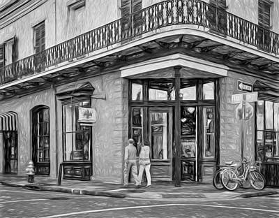Not Your Everyday Rainbow - French Quarter Art - Paint BW by Steve Harrington