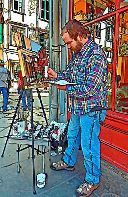 French Quarter Artist Painted Art Print by Steve Harrington