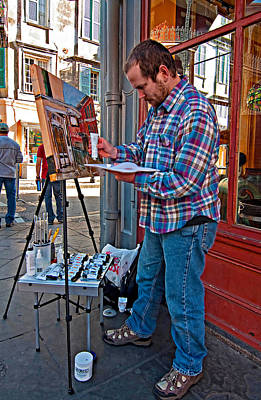 Oil Painter Photograph - French Quarter Artist by Steve Harrington