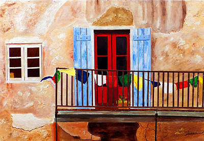 Painting - French Quarter Balcony Nola by JoeRay Kelley