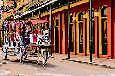 French Door Digital Art - French Quarter Carriage Ride 4 by Steve Harrington