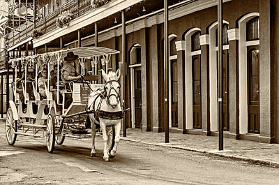 Claude Monet - French Quarter Carriage Ride sepia by Steve Harrington