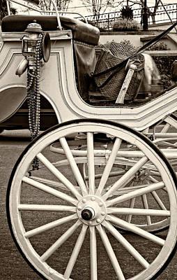 Mardi Gras Photograph - French Quarter Carriage Sepia by Steve Harrington
