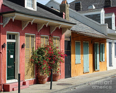 Creole Cottage Wall Art - Photograph - French Quarter Cottages New Orleans by Kathleen K Parker