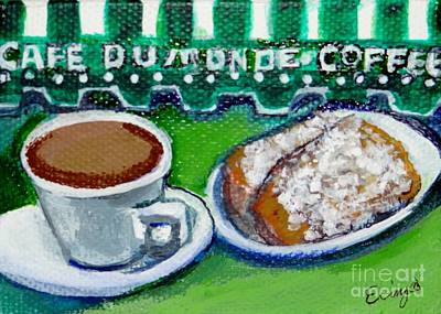 Beignets Painting - French Quarter Delight by Ecinja