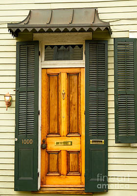 Louisiana Photograph - French Quarter Door - 3 by Susie Hoffpauir