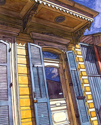 Garden District Painting - French Quarter Door #346 by John Boles