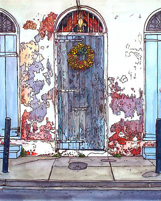 Garden District Painting - French Quarter Door by John Boles