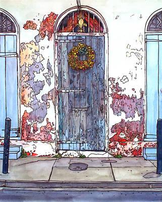 French Quarter Door Art Print by John Boles