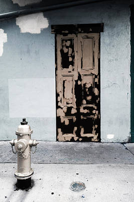 Surrealism Royalty Free Images - French Quarter Door Royalty-Free Image by Louis Maistros