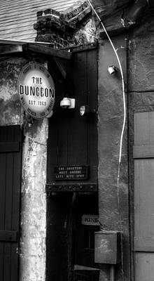 French Quarter Dungeon In Black And White Art Print