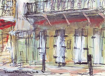 Drawing - French Quarter  by Edward Ching