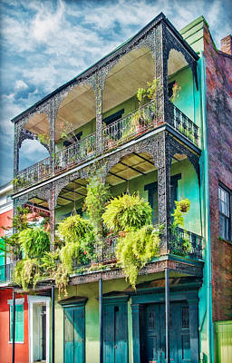 Hanging Baskets Photograph - French Quarter Ferns by Brenda Bryant