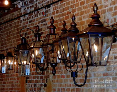 Gas Lamp Quarter Photograph - French Quarter Flames Of Illumination by Michael Hoard
