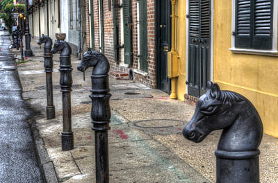 Horse Photograph - French Quarter Horse Head Hitching Post by Greg and Chrystal Mimbs