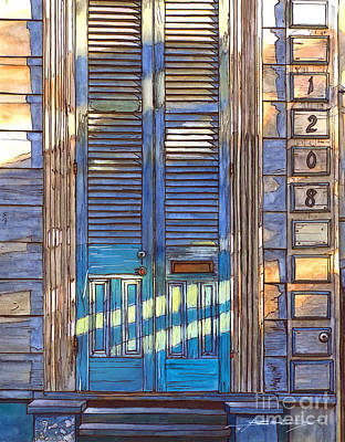 Jackson Square Painting - French Quarter House 1208 by John Boles
