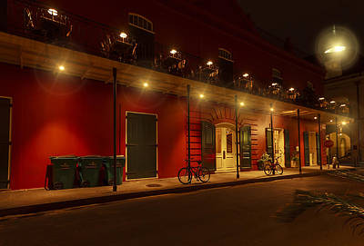 French Quarter In Red Original by Stellina Giannitsi