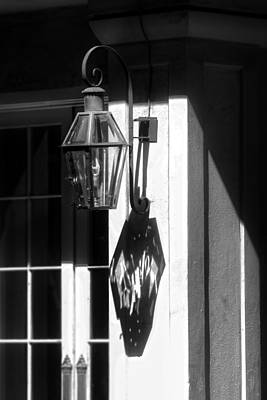 Dramatic Photograph - French Quarter Lamp Shadow by Greg and Chrystal Mimbs