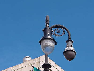 Photograph - French Quarter Light Post by Kathy K McClellan